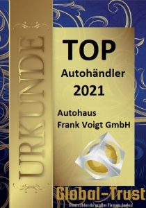 Global Trust Siegel - Top Autohändler 2021